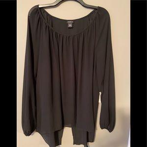 Torrid sheer black blouse